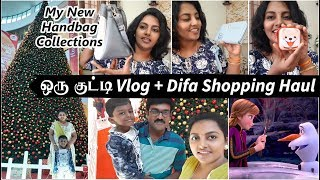 ஒரு குட்டி VLOG + DIFA Shopping Haul | My New handbag Collections | Shopping Haul in Tamil
