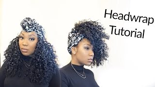 Easy Turban /Head-wrap Tutorial | Curly Monroe