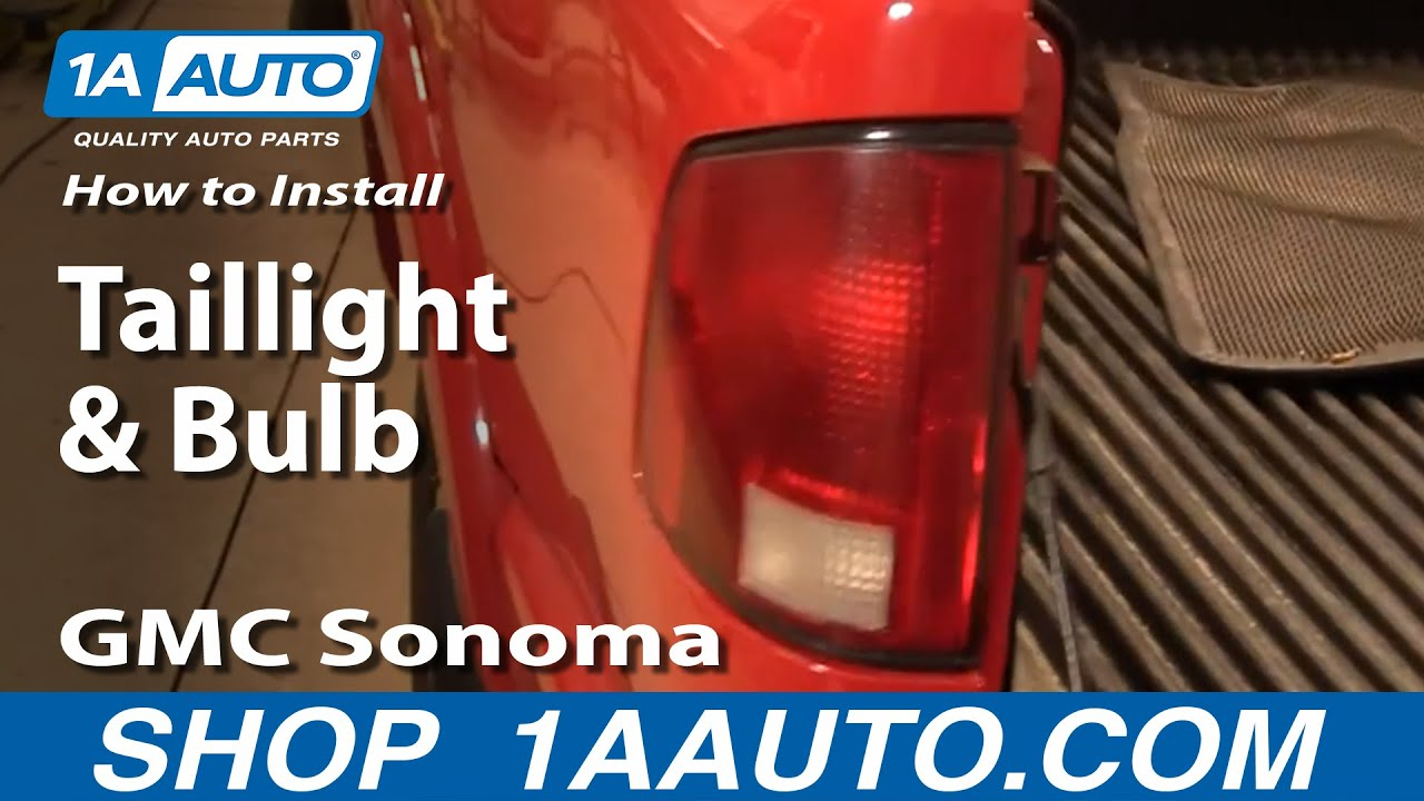 how to install replace taillight and bulb 94 04 gmc sonoma s15 youtube. Black Bedroom Furniture Sets. Home Design Ideas