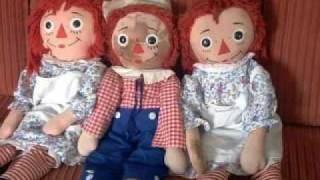 Raggedy Ann Andy rag doll restoration and repair