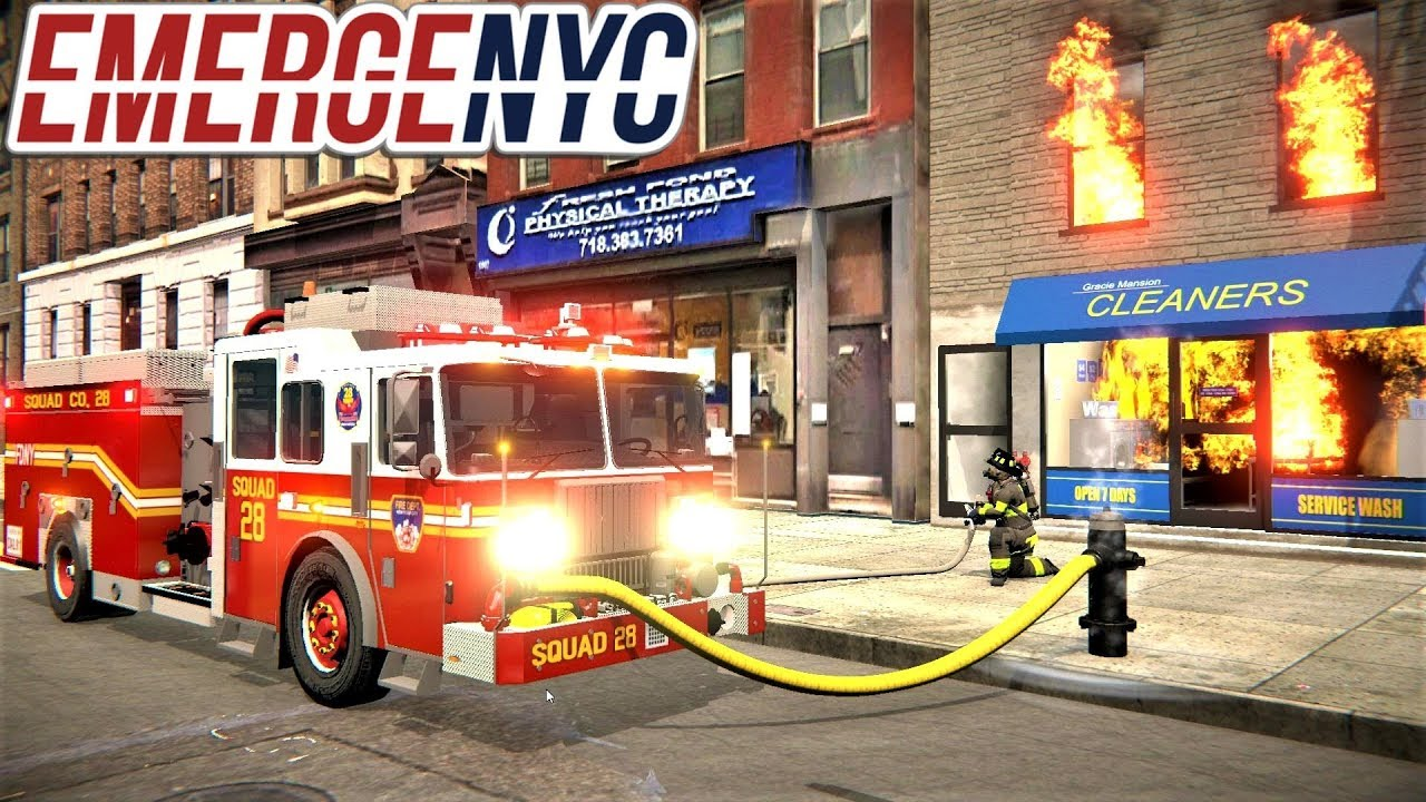 EmergeNYC FDNY Squad 28 First Due To A Fire In A Laundromat