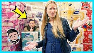 EXTREMES VERSTECKEN IM SUPERMARKT! Hide and Seek zwischen Toilettenpapier & Windeln mit Kaan + Kathi
