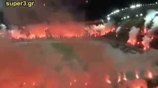 جمهور  مجنون اشعل الملعب وتركوه يحترق 2013 بوكا جونيورز