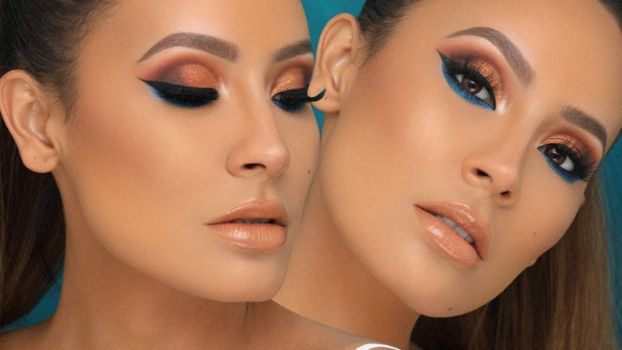 GRWM - FULL COVERAGE SKIN BRONZY EYE | DESI PERKINS