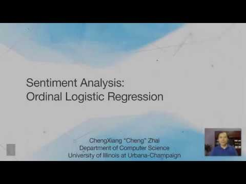 Lecture 45 — Opinion Mining and Sentiment Analysis Ordinal Logistic  Regression | UIUC