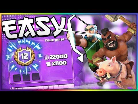 12-0 EASY!! Best Hog Rider Magic Archer (Fast!) Cycle Deck — Clash Royale