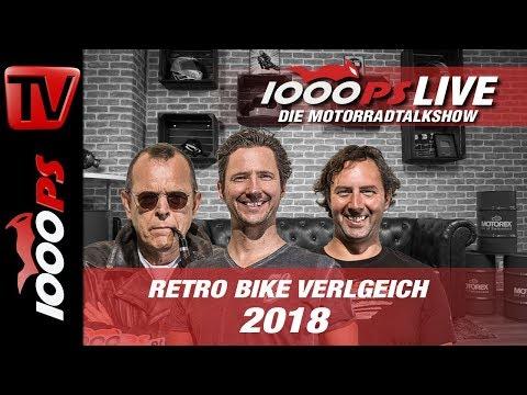 1000PS Live - Die Motorradtalkshow - Retro Bike Vergleich 2018