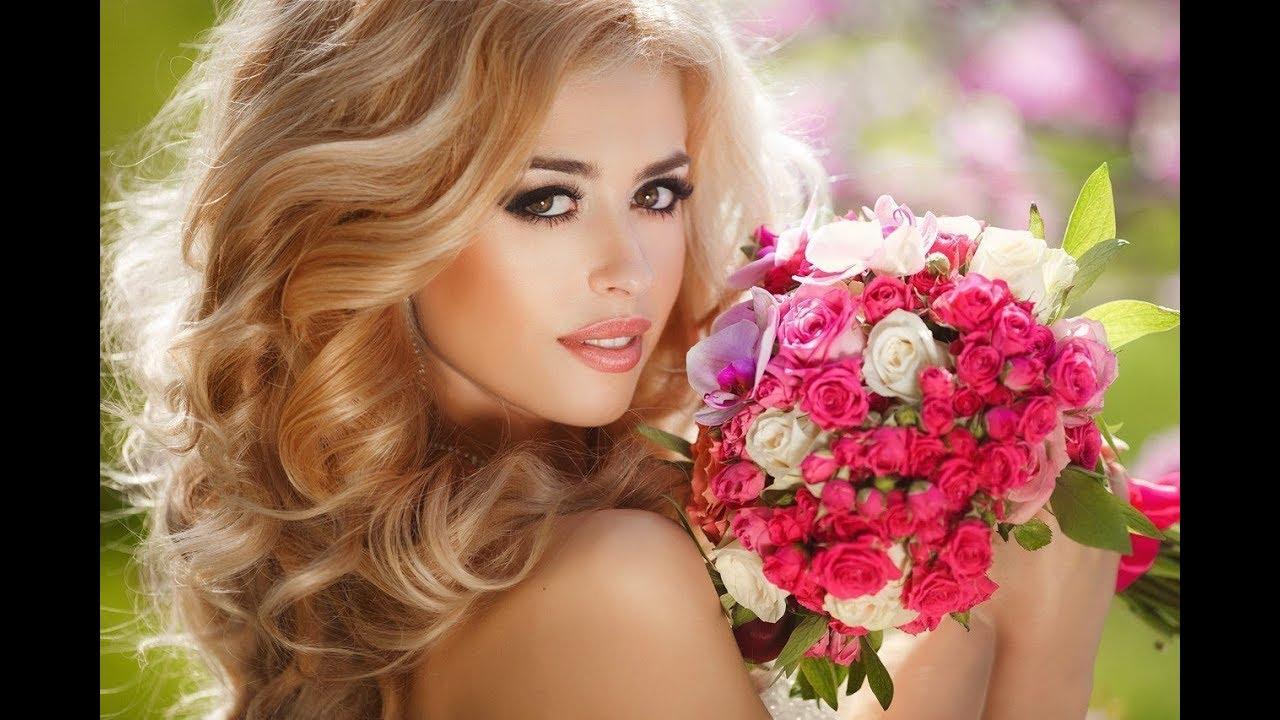 Красивые картинки блондинок с розами