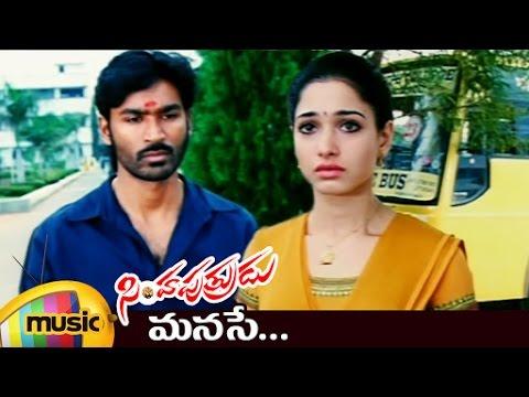 Simha Putrudu Telugu Movie Songs | Manase Video Song | Dhanush | Tamanna | DSP | Hari