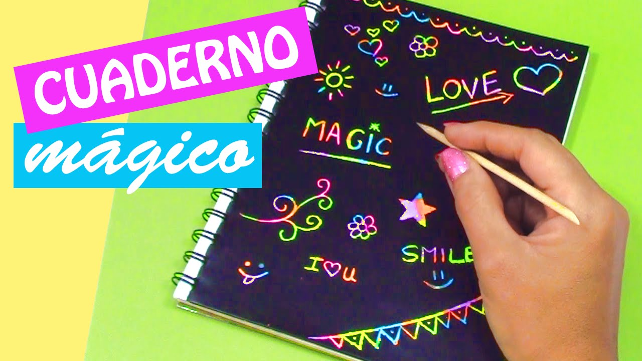 Original Libreta Mágica Para Raspar Dibujar Y Escribir: Manualidades: CUADERNO MÁGICO! DIY Regreso A Clases