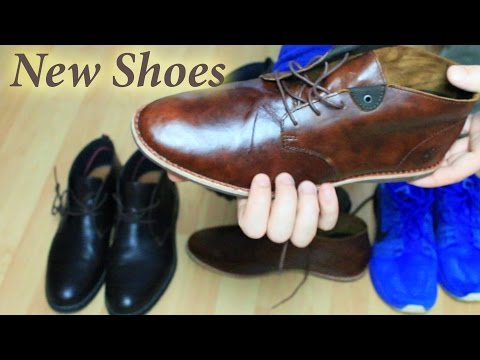 ASMR My New Shoes (Leather, Hiking & Sneaker) ✦ Wax polishing, cleaning, some tapping