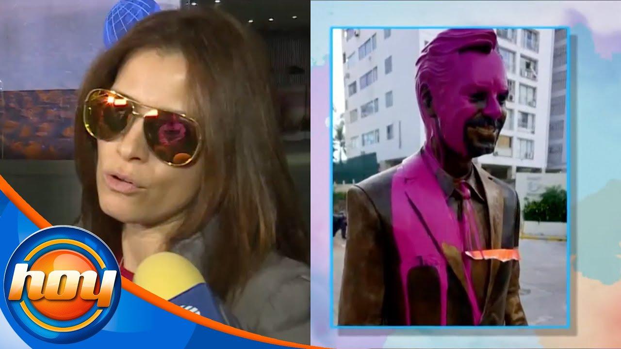 Alessandra Rosaldo reacciona al vandalismo que tuvo la estatua de Eugenio en Acapulco | Hoy