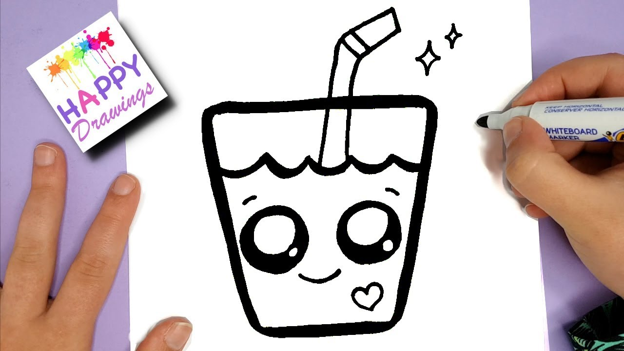 HOW TO DRAW A SUPER CUTE DRINK - KAWAII HAPPY DRAWINGS ...