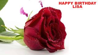 Lisa - flowers - Happy Birthday