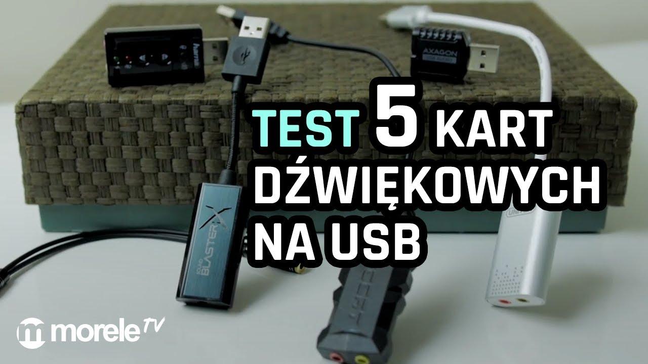 Karty dźwiękowe na USB – TEST 5 modeli