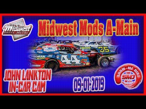 S03➜E446 John Lankton Midwest Mod A-Main - Monett Motor Speedway 09-01-2019