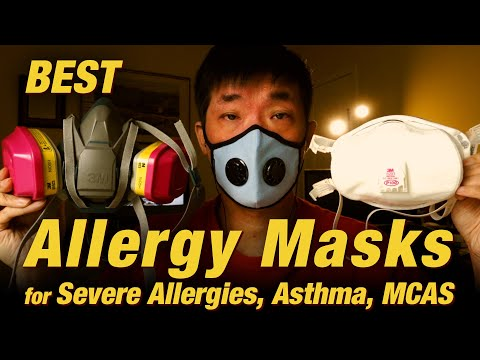 Allergy Mask Guide for Severe Allergies, Asthma, Pollution. Vogmask, 3M, N95 | Ep.221