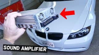 HOW TO REMOVE AND REPLACE SOUND AMP AMPLIFIER ON BMW E90 E91 E92 E93