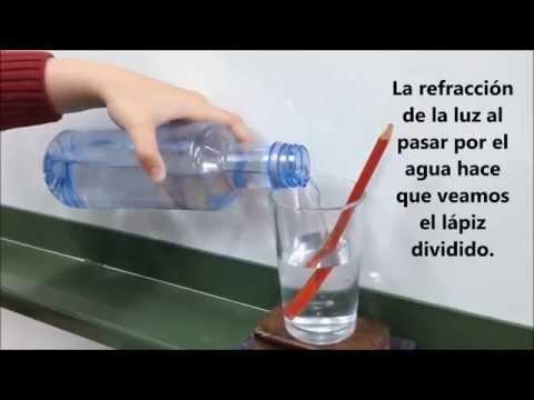 Experimento refracción lápiz