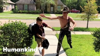 Big brother surprises little brother in a new costume every day | Humankind