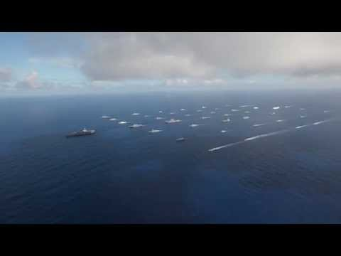 RIMPAC 2014 ships in close formation