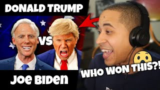 OBAMA REACTS to Donald Trump vs Joe Biden (Epic Rap Battles Of History)