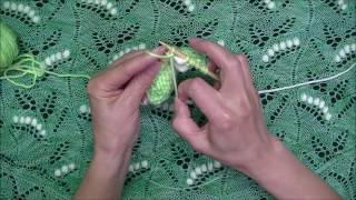 How to Knit - Lily of the Valley Nupps in a Different Color - Part 1 - Right and Left Leaning Nupps