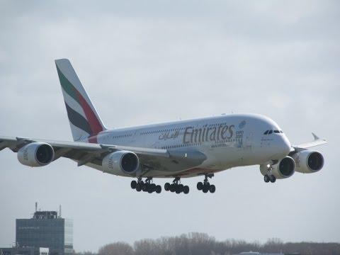 60+ minutes of Planespotting at Schiphol Amsterdam International Airport Nice Traffic [Full HD]