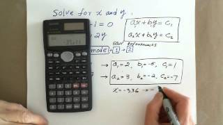 Scientific Calculator: Solving Systems of Linear Equations(Description., 2015-08-18T22:10:56.000Z)