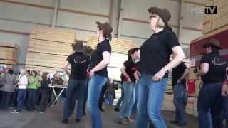 Die Hochplateau Line Riders (Line Dance) bei der Eurojack - Europam...