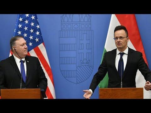 """美国务卿蛮横要求""""远离中俄"""",匈牙利外长当场怒怼:虚伪!"""