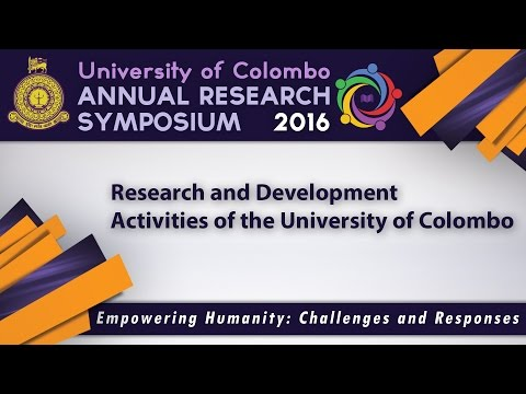Research Symposium 2016 -  Research and Development Activities of the University of Colombo