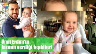 Ümit Erdim'in kızının komik seslere verdiği tepkiler!
