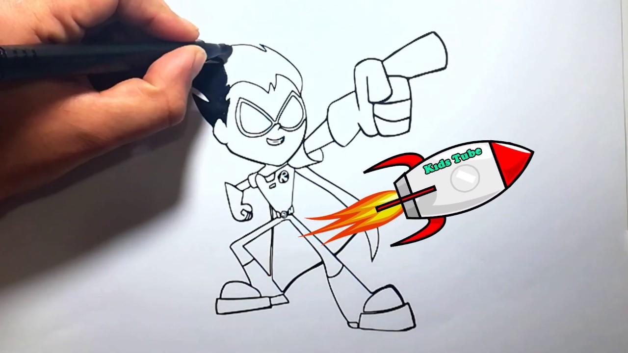 Teen Titans Go Küçük Kahraman Robin Boyama Youtube