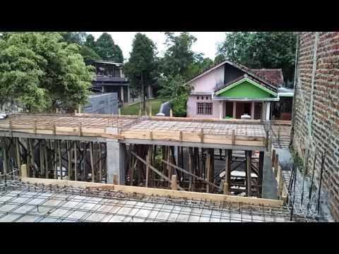 Proses Cor Dak 102 M2 Rumah Tetangga