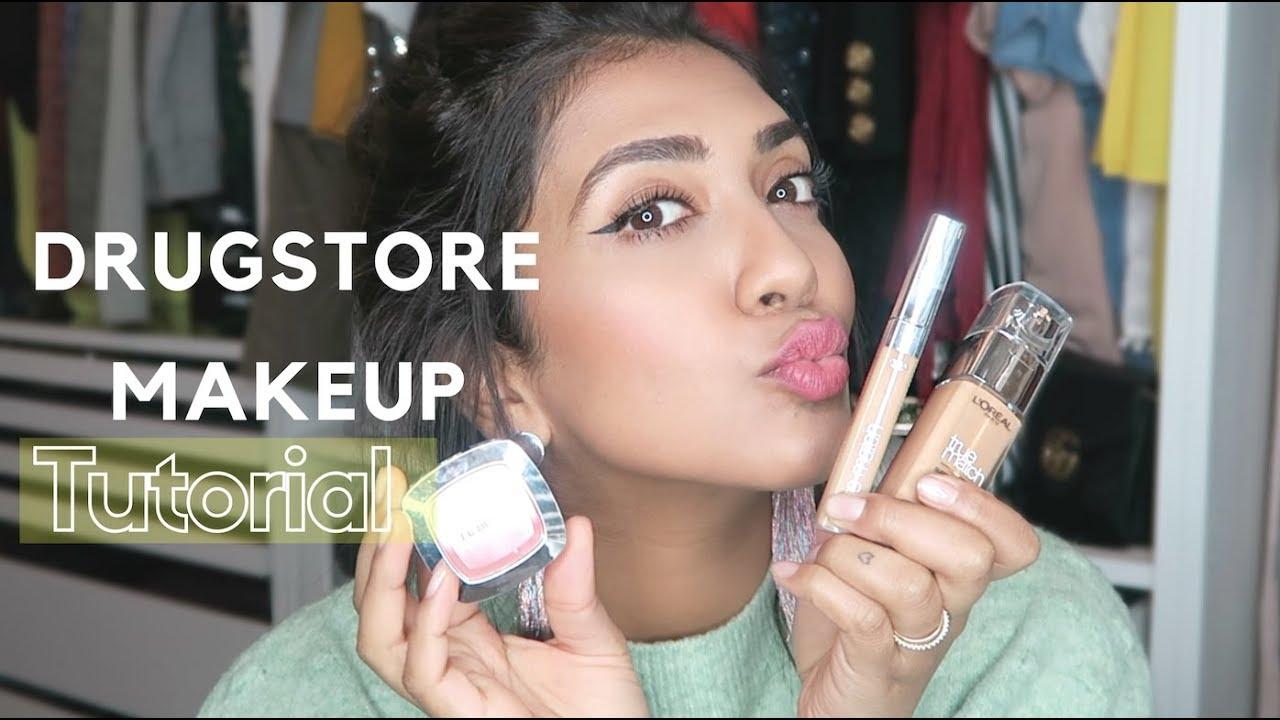 drugstore makeup tutorial affordable makeup vithya hair and makeup
