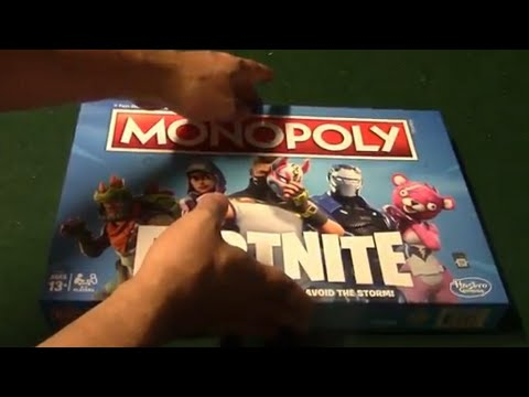 Monopoly Fortnite Board Game Unboxing Youtube