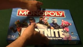 Monopoly Fortnite Board Game: Unboxing