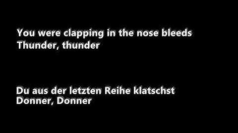 Thunder �Bersetzung Deutsch