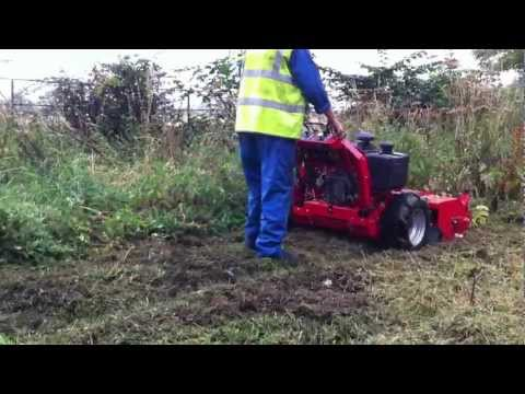 Ferris Pedestrian Flail Mower - YouTube