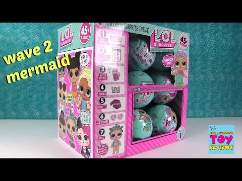 Wave 2 LOL Surprise Doll Blind Bag Opening Wets Cries Color Change Spits | PSToyReviews