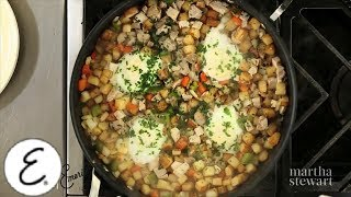 Baked Eggs With Turkey Hash For Breakfast - Emeril Lagasse