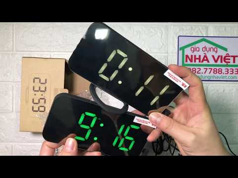 Đồng hồ hẹn giờ để bàn màn hình gương LED 2 cổng USB EN8813