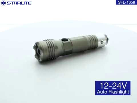 fashion handsize rechargeable Li-ion CREE XPG weather proof Car plug charging flashlight for Vehicle