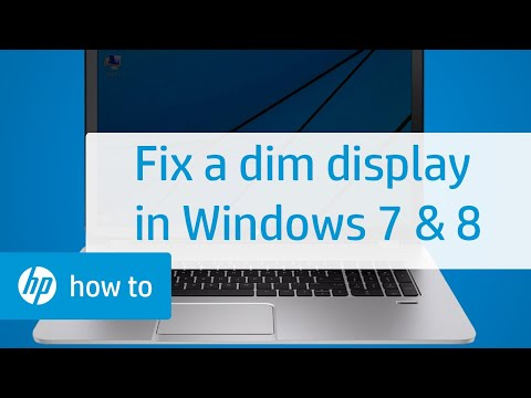 Troubleshooting a Dim Display - Notebook Computers with Windows 8, Windows 7 | HP Notebooks | HP