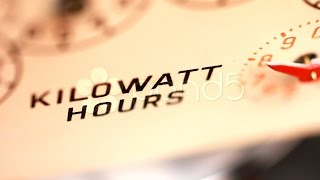 Electricity Supply Meter Kilowatt Hour Dial Close Up. Stock Footage