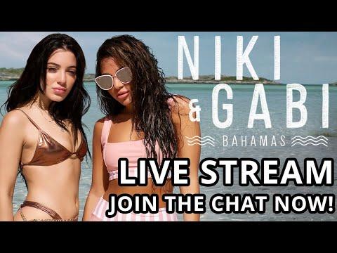 Niki & Gabi Take Bahamas Live Stream Marathon