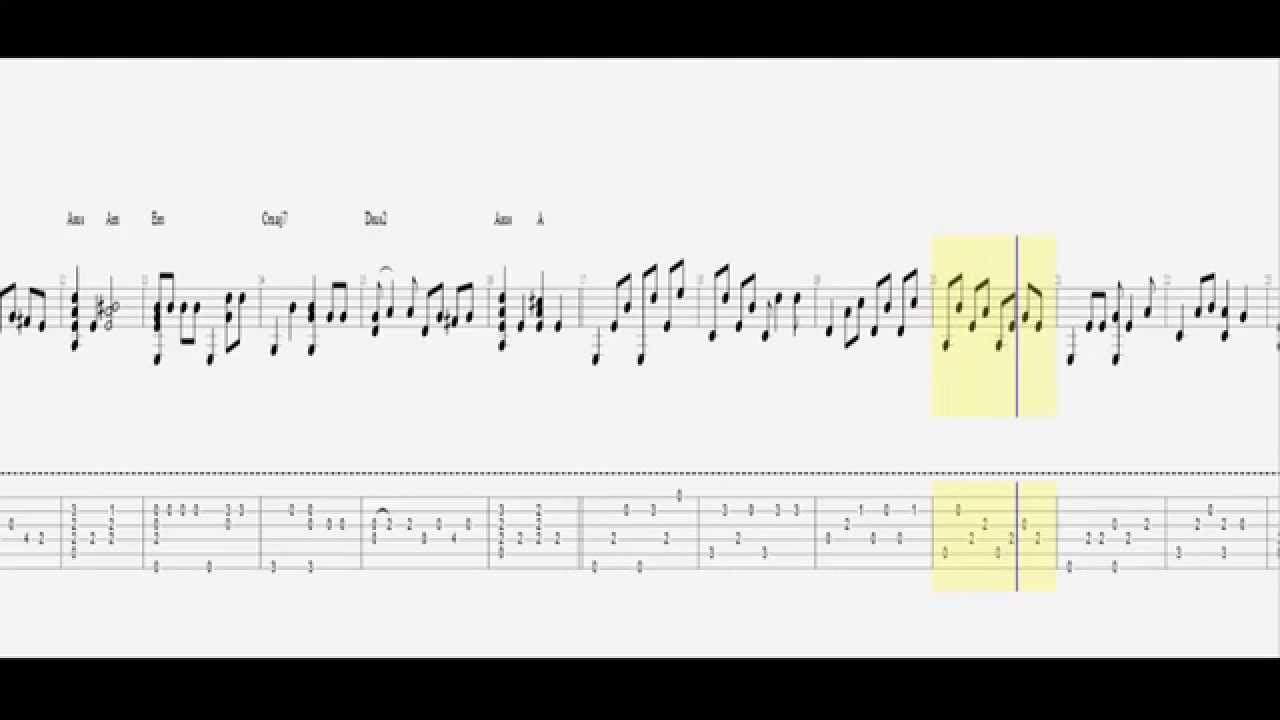 Let It Go Frozen Guitar Pro Tab Tutorial Hd Youtube