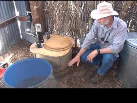 How to Build a Composting Toilet Barrel System  YouTube