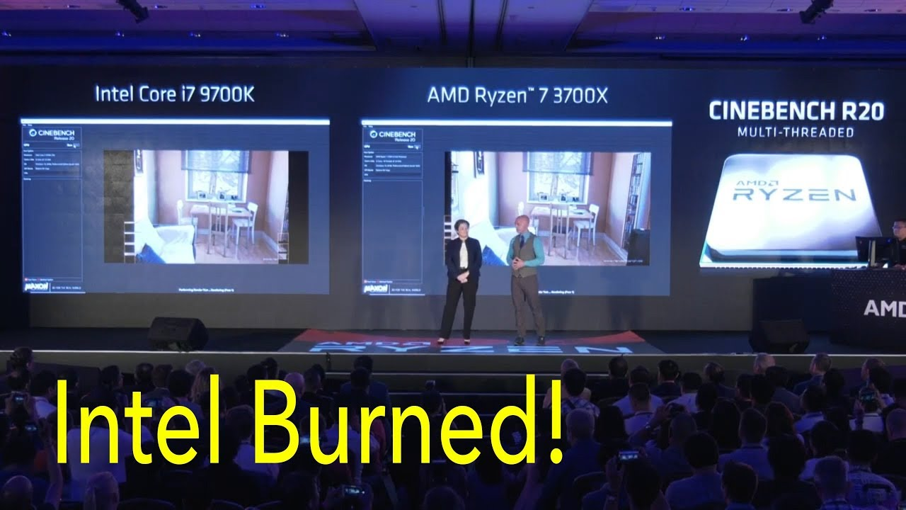 AMD Ryzen 3700x vs Intel i7 9700k, Intel ROASTED!